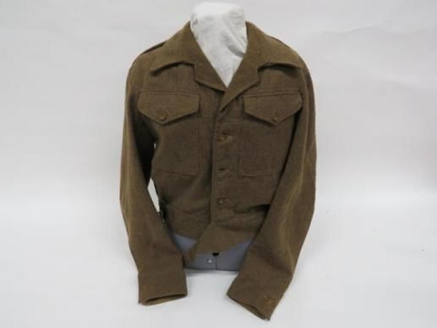 1945 Dated Good Size Clean 1940 Pattern Battle Dress Jacket