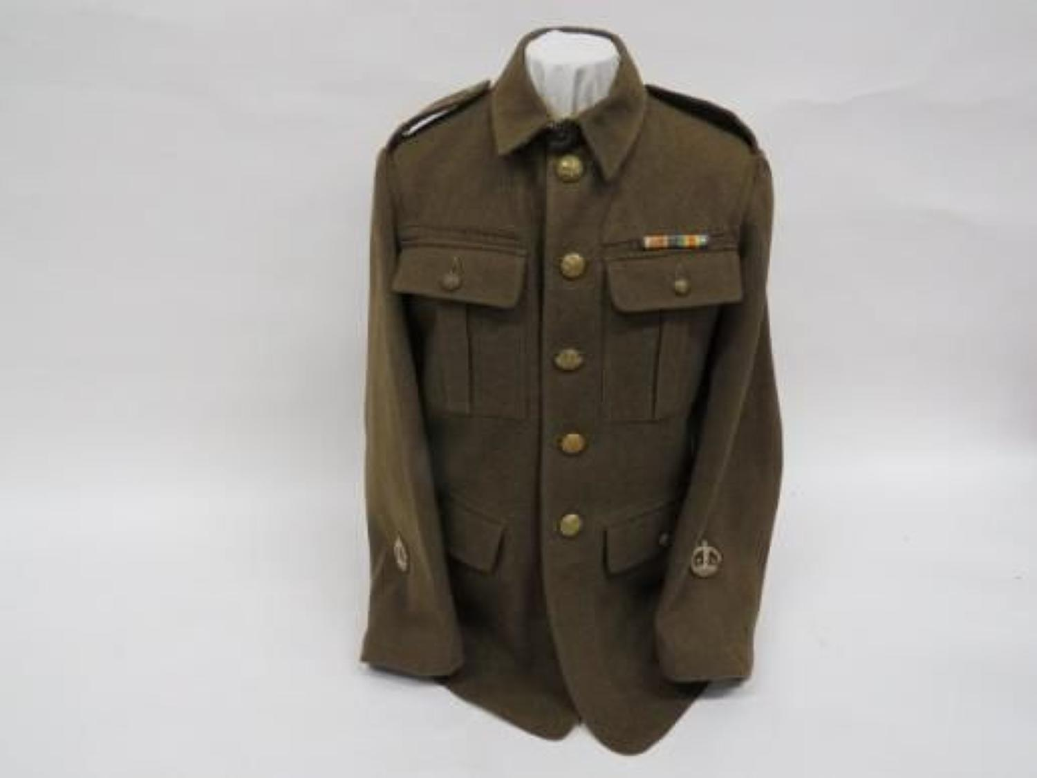 WW 2 1922 Pattern Worcestershire Warrant Officers Tunic