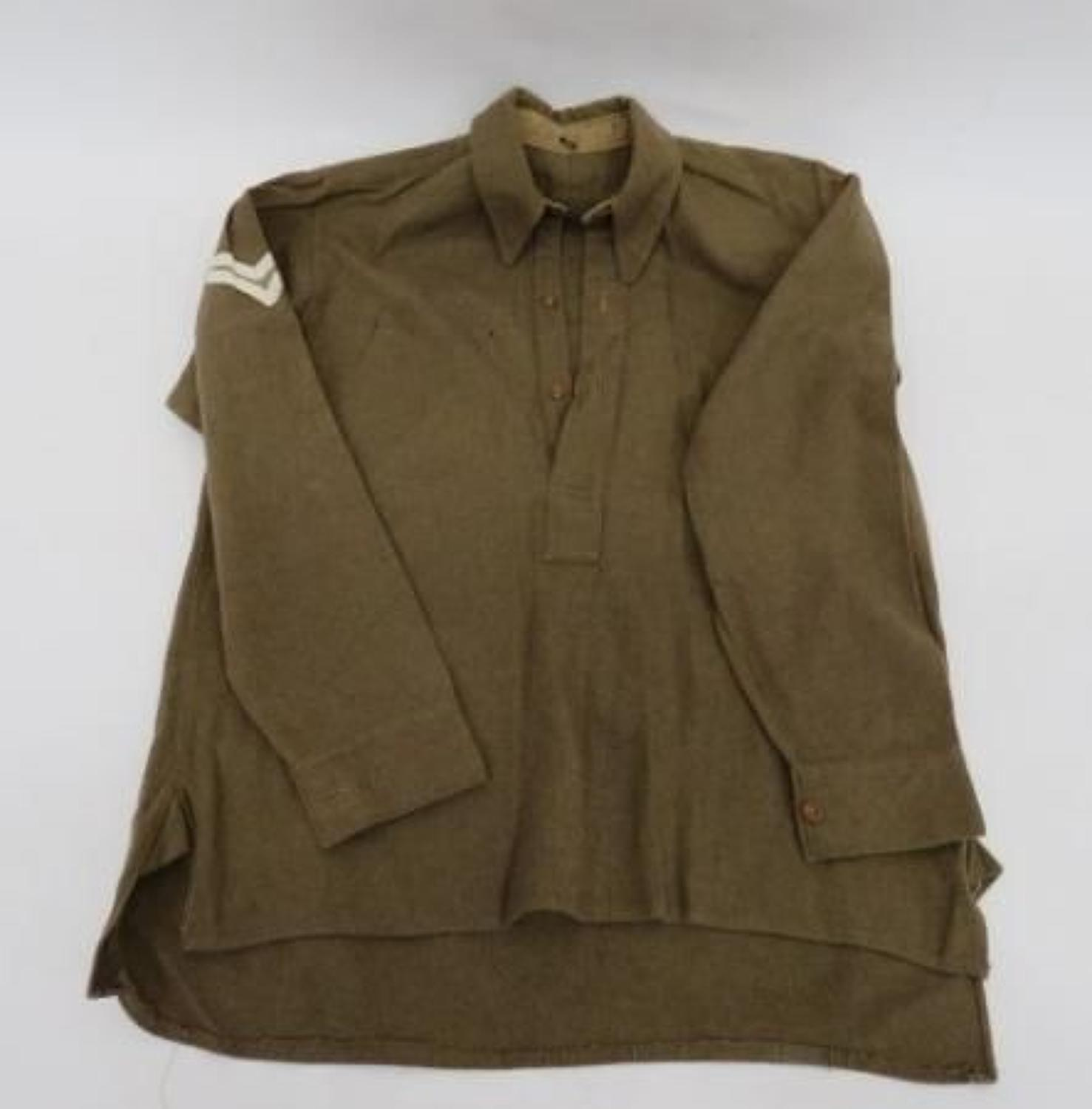 WW 2 Issue Army Other Ranks Half Front Collared Shirt