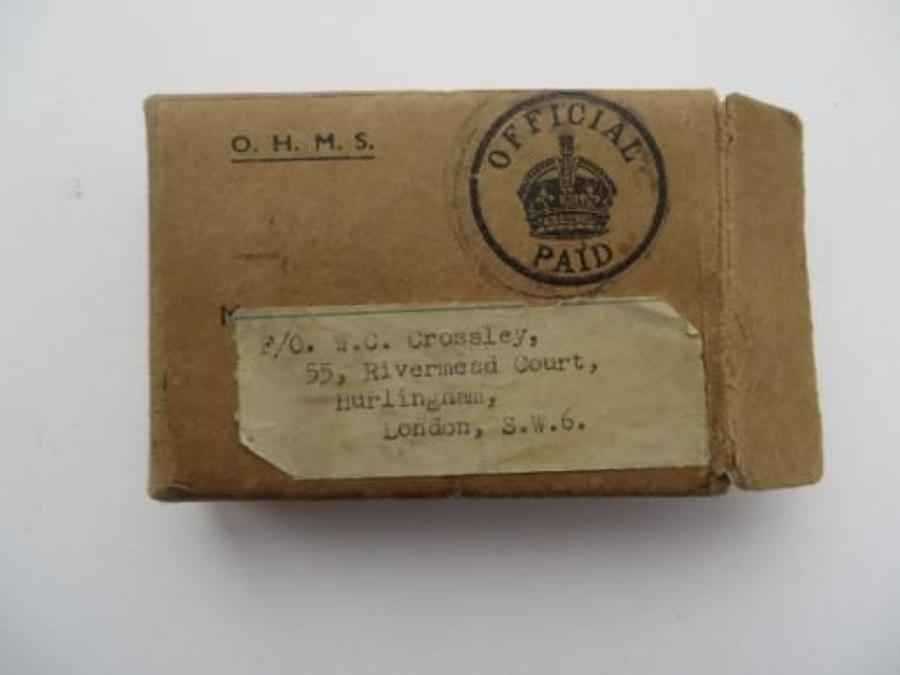 WW 2 R.A.F Medal Issue Box