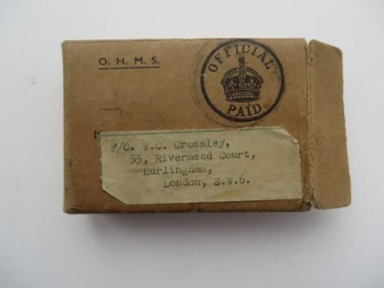 WW 2 R.A.F Medal Issue Box