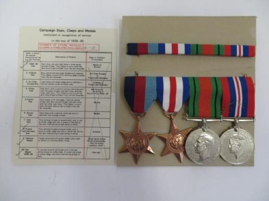 Post WW 2 Late Issue France & Germany Star Medal Group