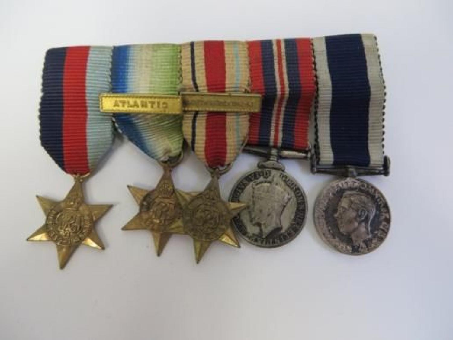 WW 2 Miniature Navy Medal Group