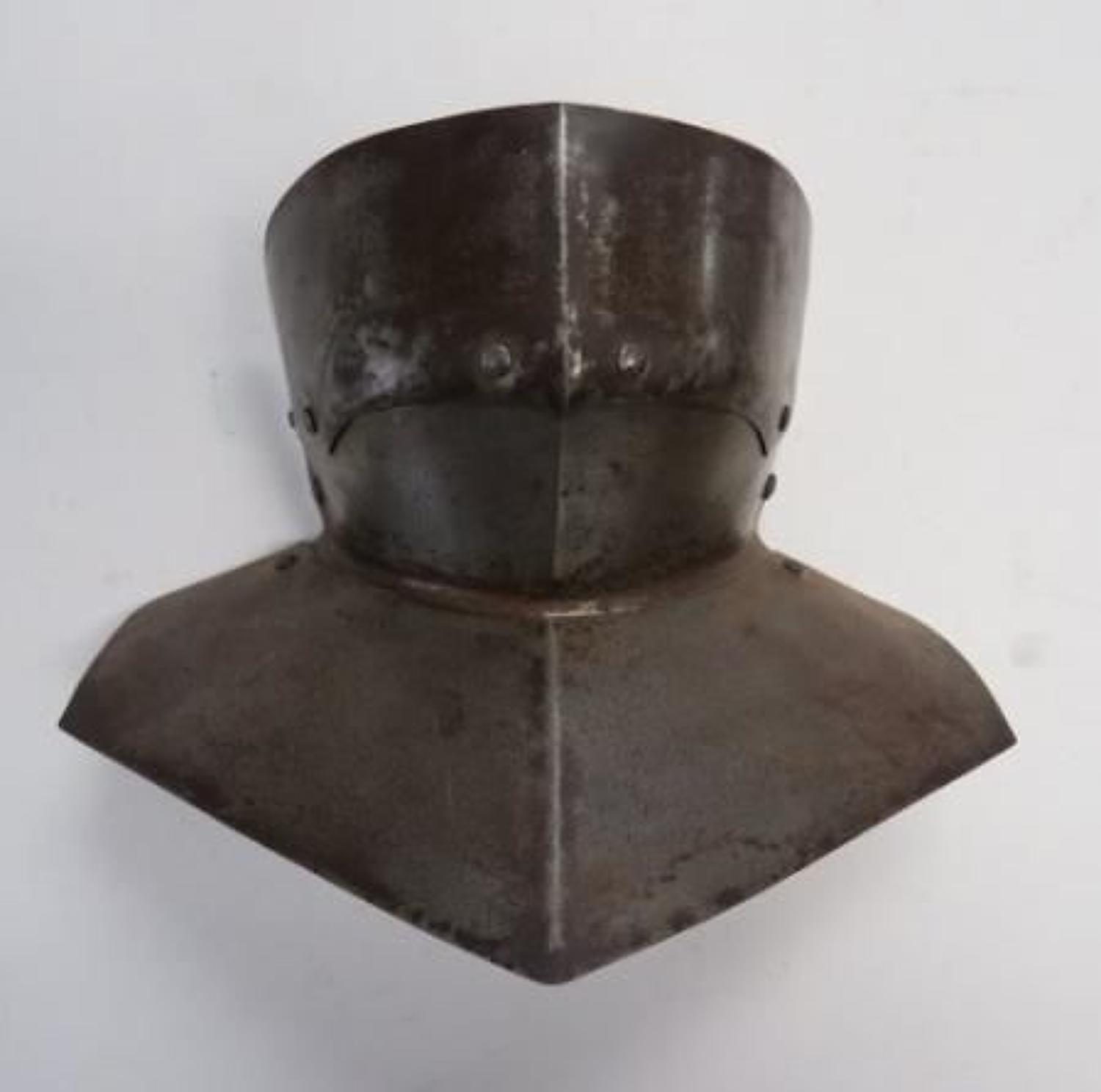 Victorian Gothic Armour Gorget and Chin Protector