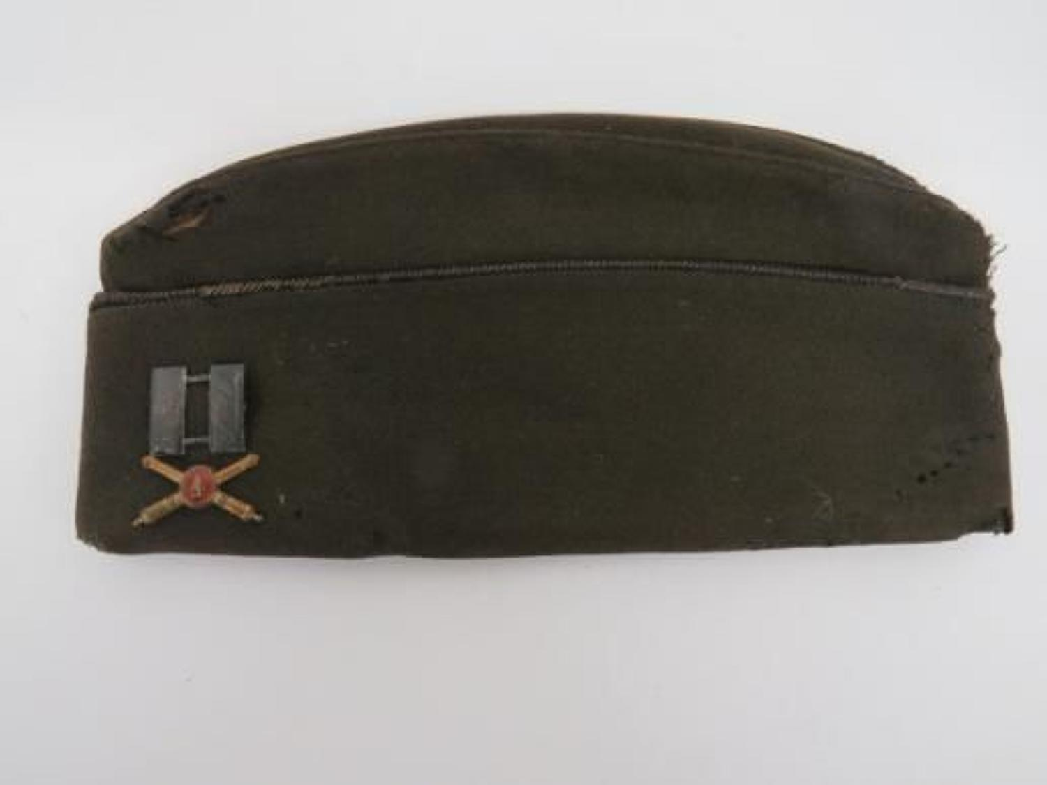 1943 Dated British Made American Officers Garrison Cap