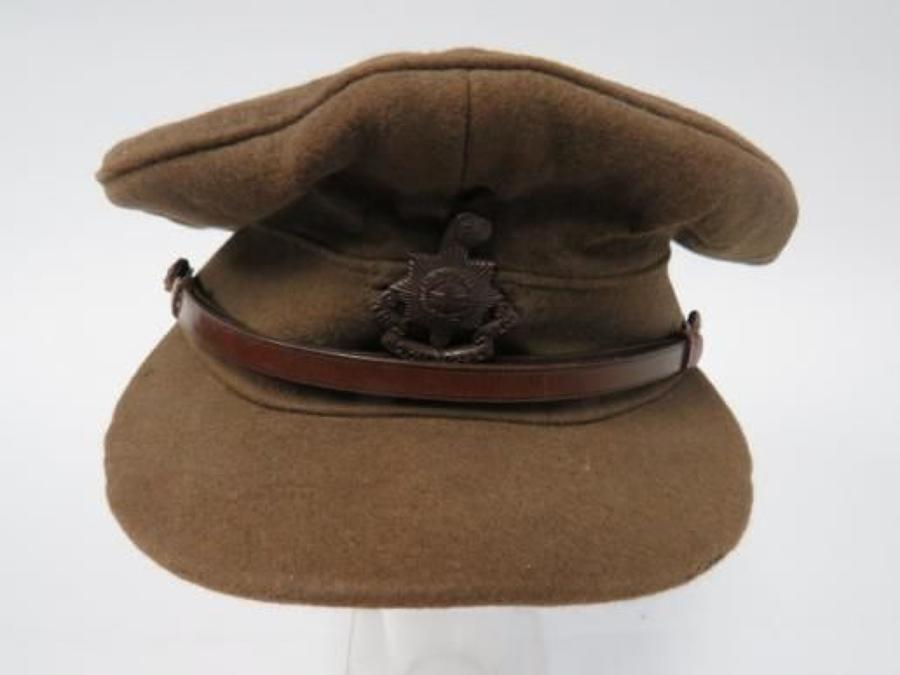 WW1 Royal Sussex Regiment Officers Cap
