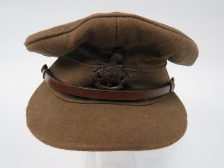 WW1 Royal Sussex Regiment Officers Cap