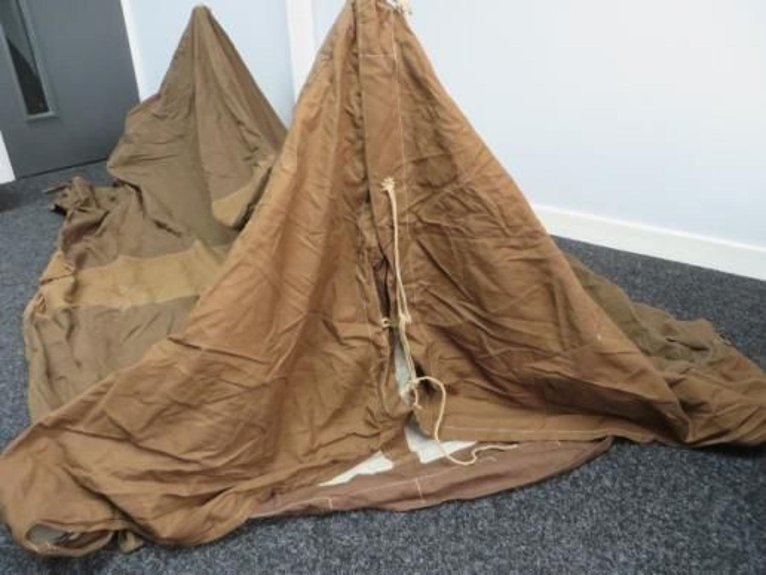 Rare 1944 Dated Two Man Tent with Spares Kit