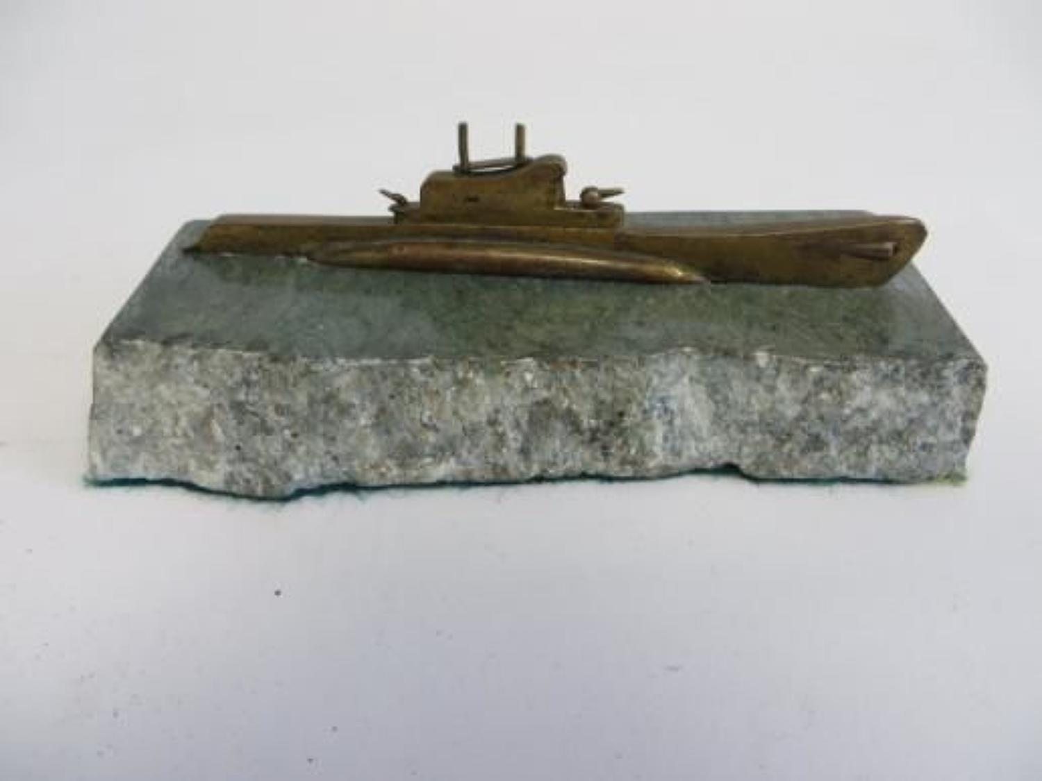 Scarce Submarine Desk Paper Weight