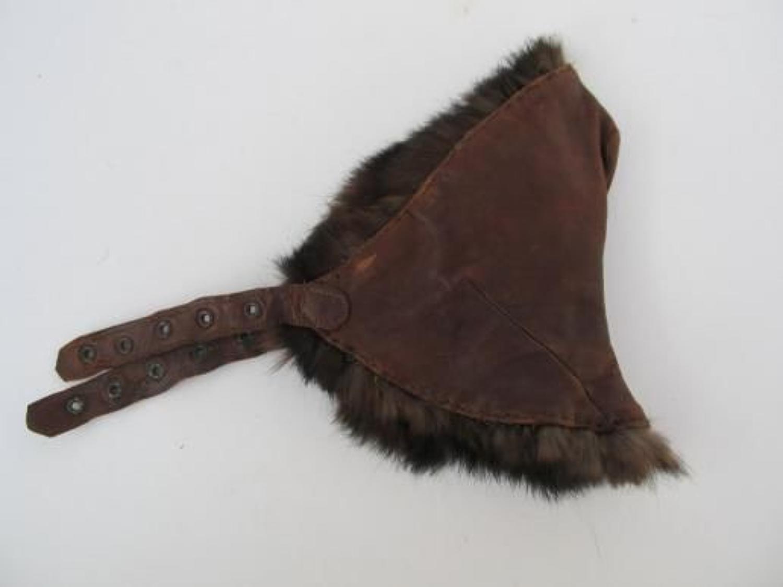 Rare WW1 R.F.C Cold Weather Helmet Detachable Neck Cover