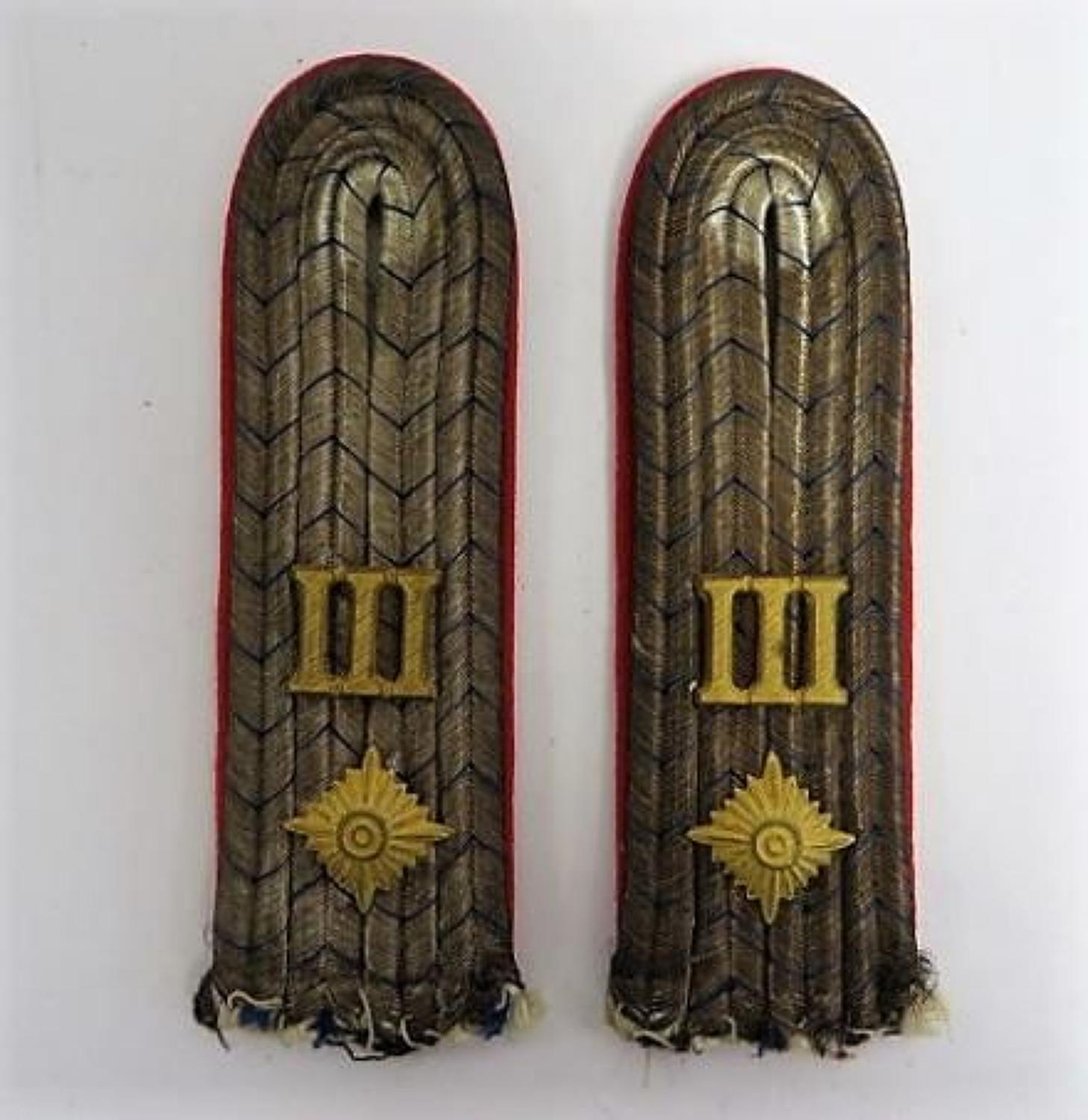 Imperial German 3rd Infantry Officers Shoulder Straps