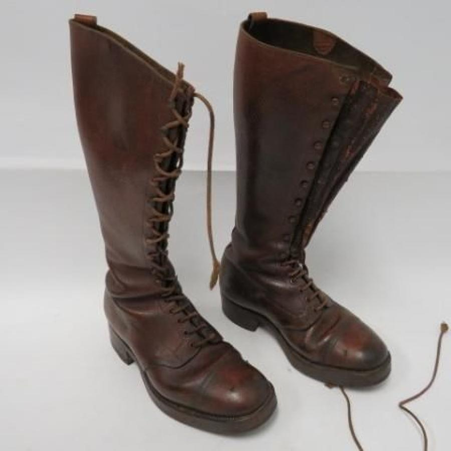 Scarce pair of WW1 Officers Trench Boots
