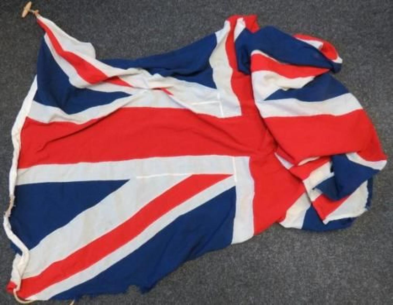1940s Large Cotton Union Jack Flag