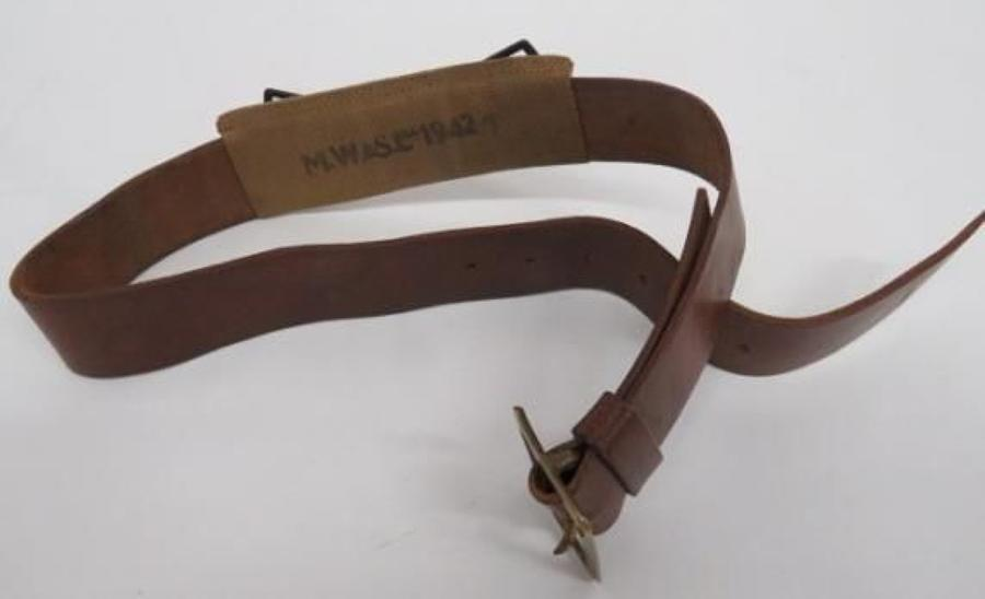 WW 2 Home Guard Leather Belt and Webbing Rear Sleeve Fitting