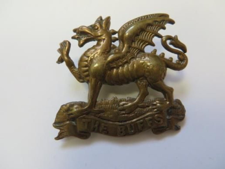 Edwardian The Buffs Cap Badge
