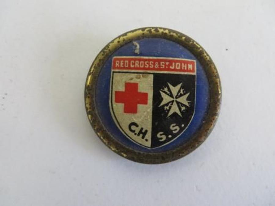 WW2 Red Cross & St John Day Lapel Badge