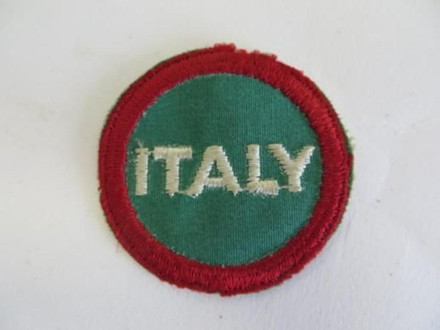 Italy American made Formation Badge
