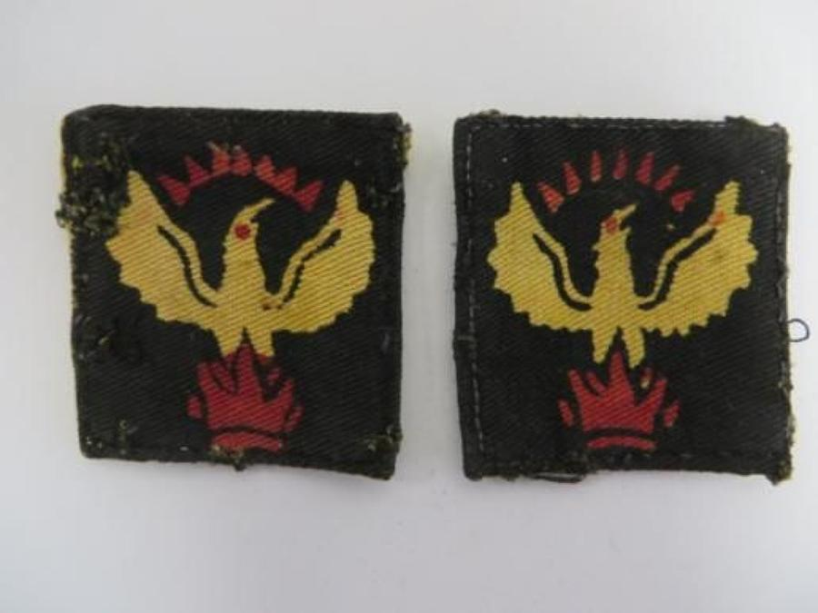 Pair of 105th Madras Line of Communication Formation Badges