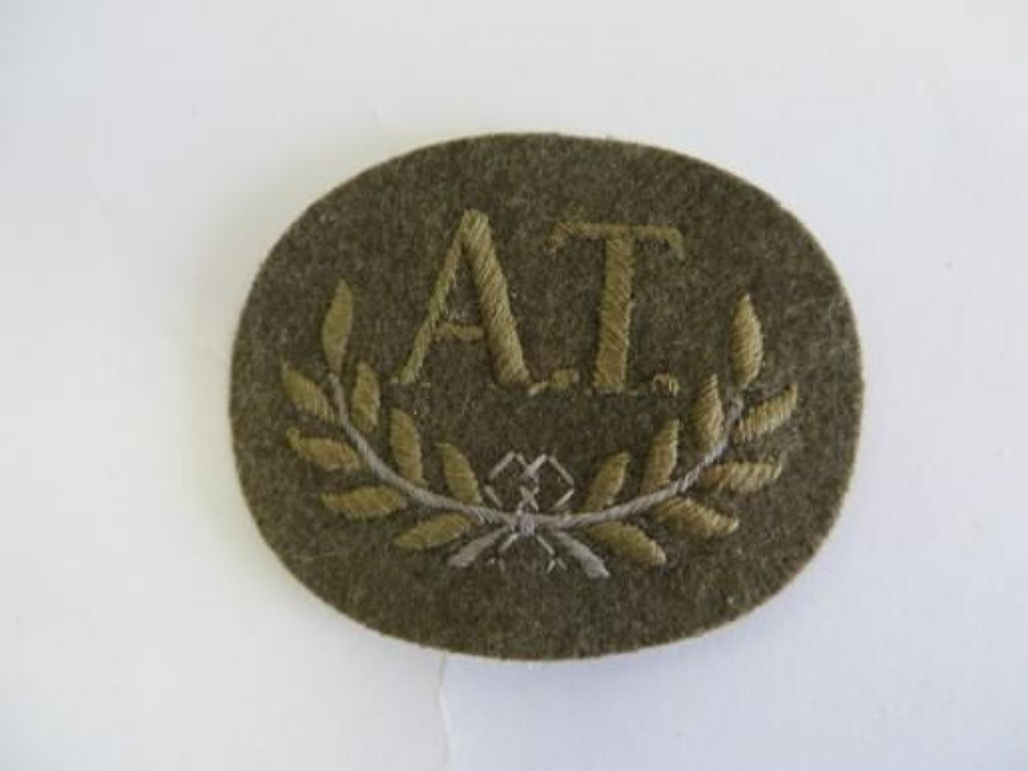 A.T Trade Arm Badge
