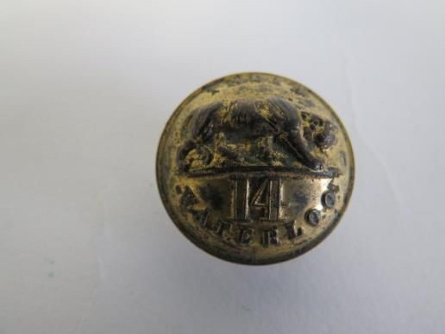 14th Foot Officer Button