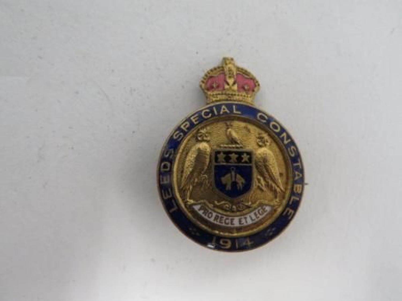 1914 Leeds Special Constable Lapel Badge
