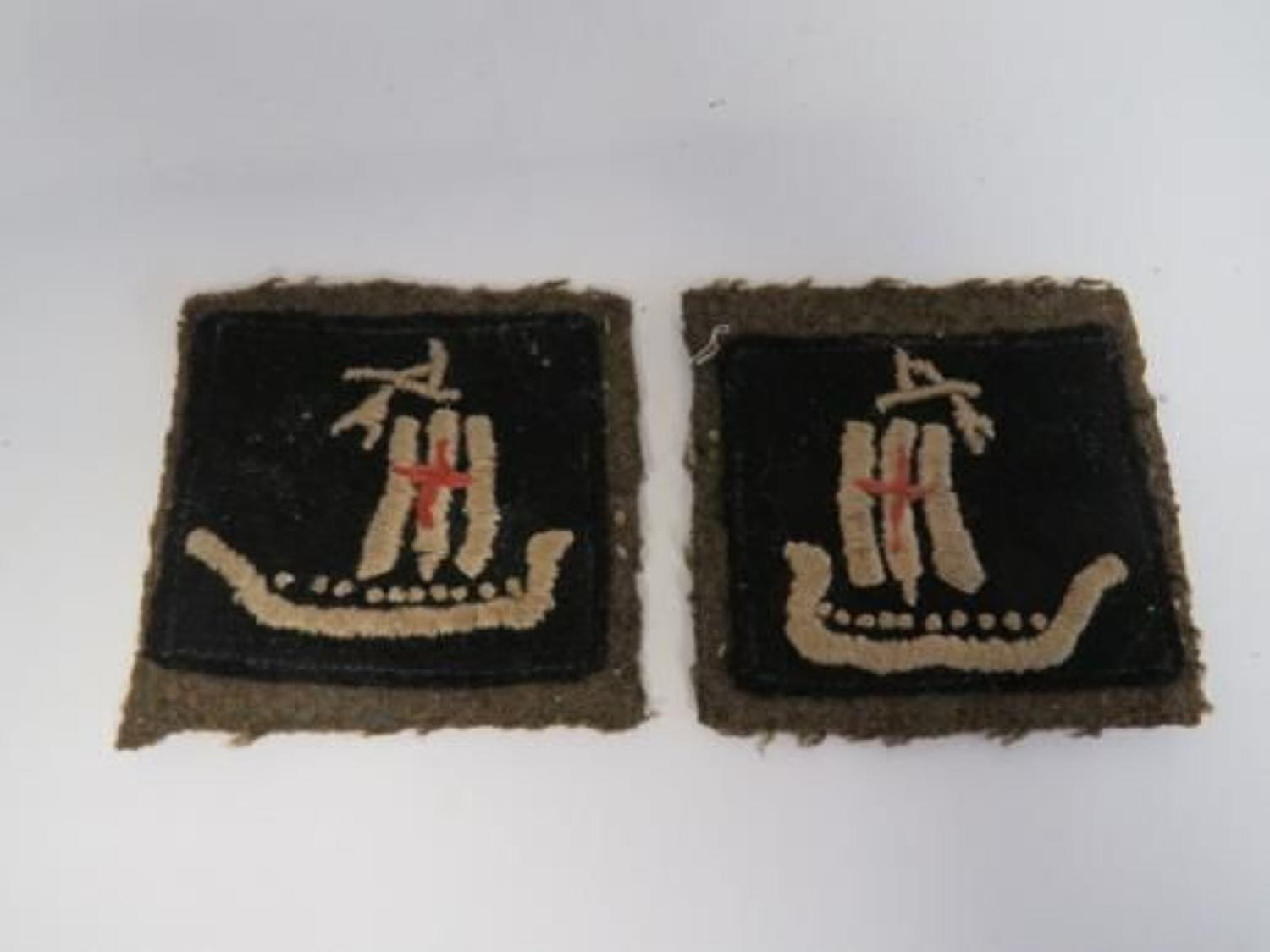 Pair of 5th Corps Formation Badges