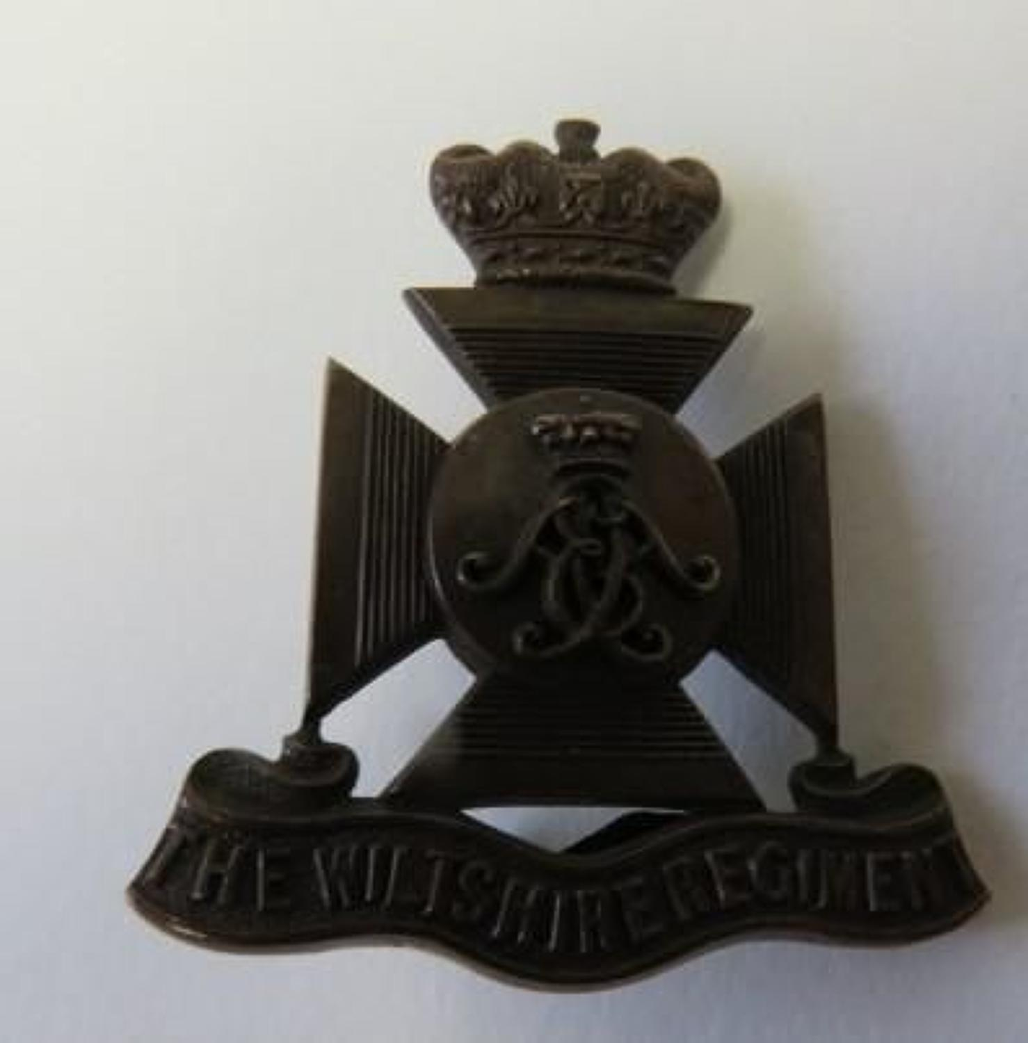 Wiltshire Regiment Officers Cap Badge