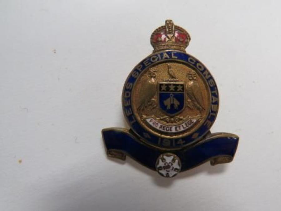 Leeds Special Constable 1914 Lapel Badge