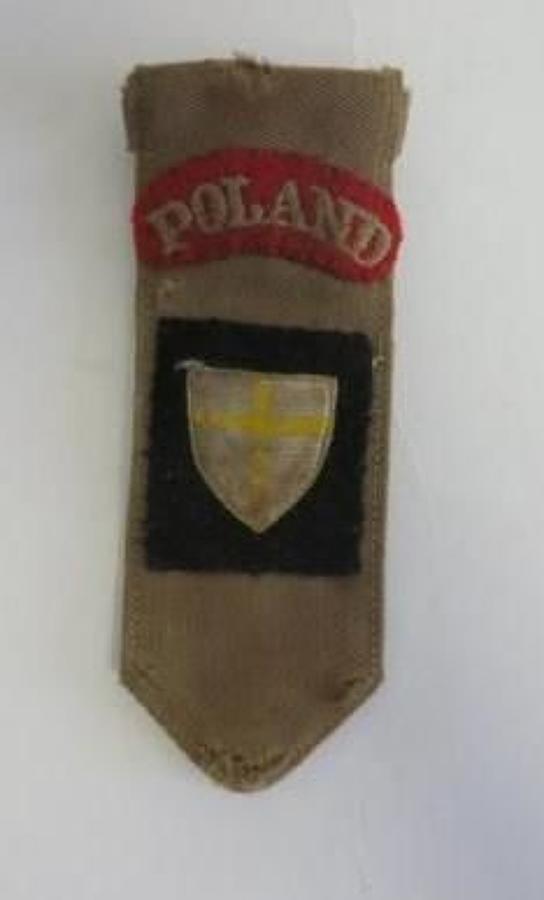 Polish 8th Army Shoulder Hanging Battle Flash