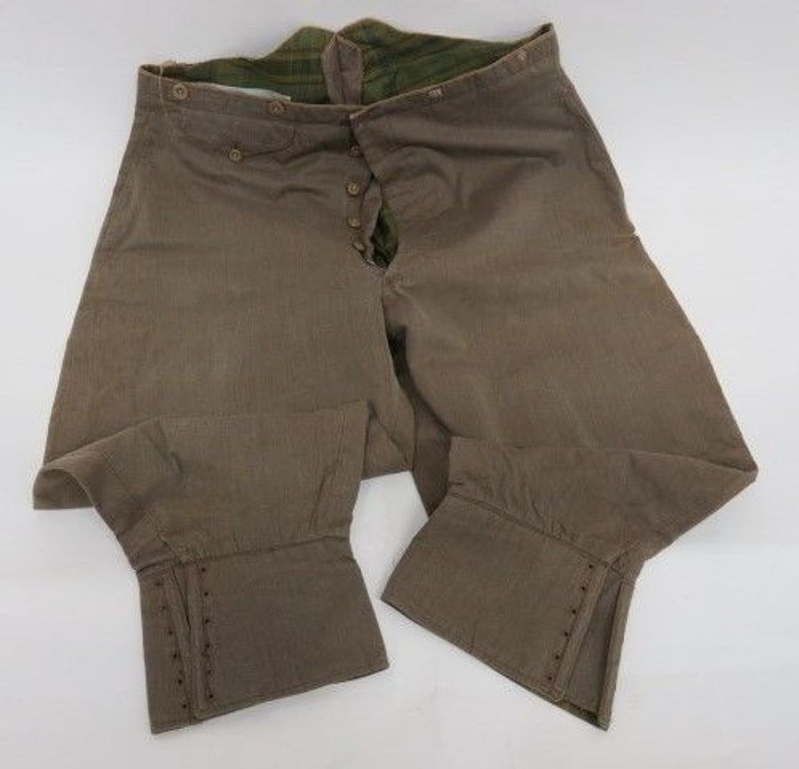WW 1 Officers Pattern Tropical Breeches