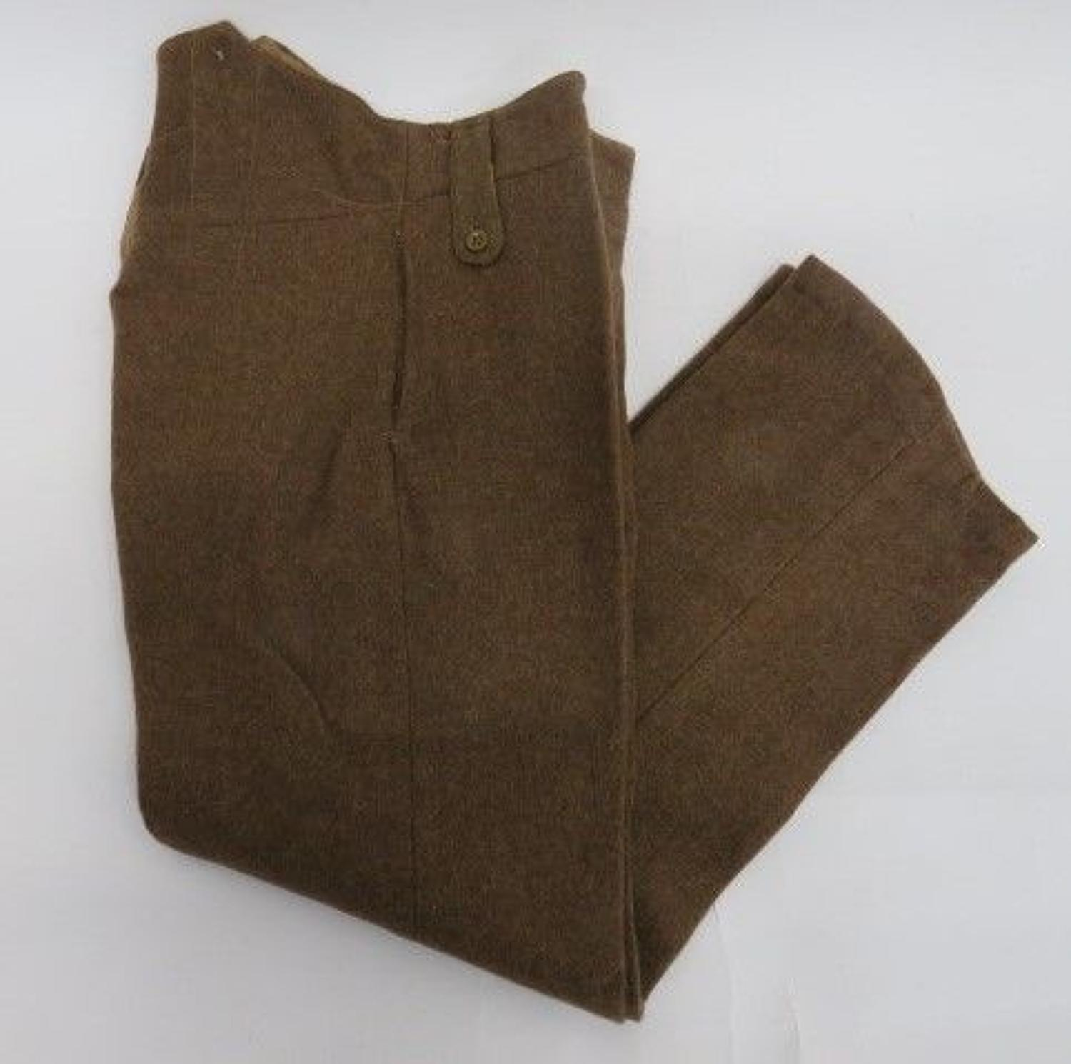 WW 1 Pattern 1922 Pattern Other Ranks Trousers