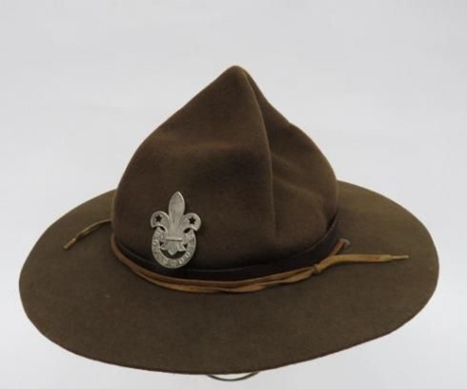 WW 2 Period Boy Scouts Lemon Squeezer Felt Hat