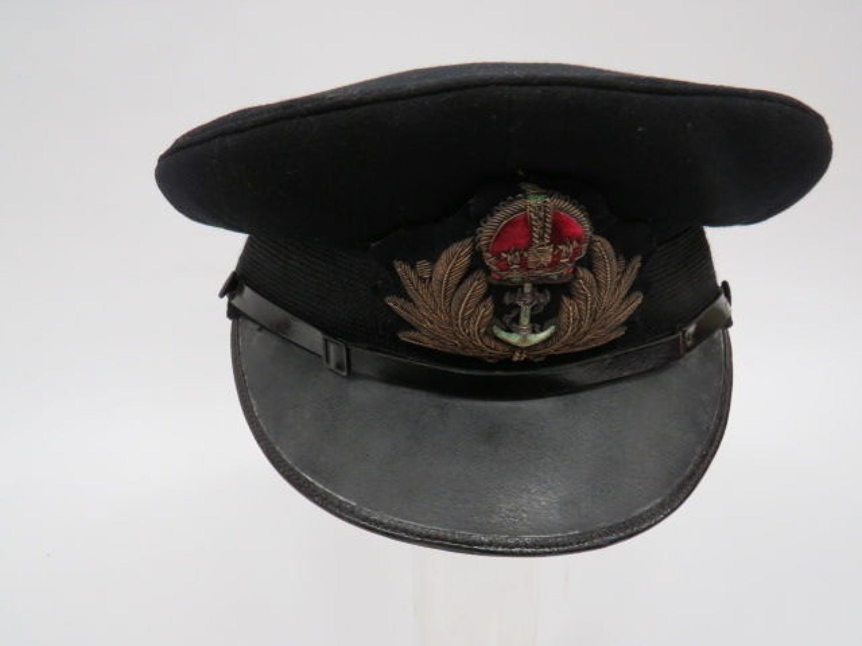 WW2 Royal Navy Officer's Service Dress Cap