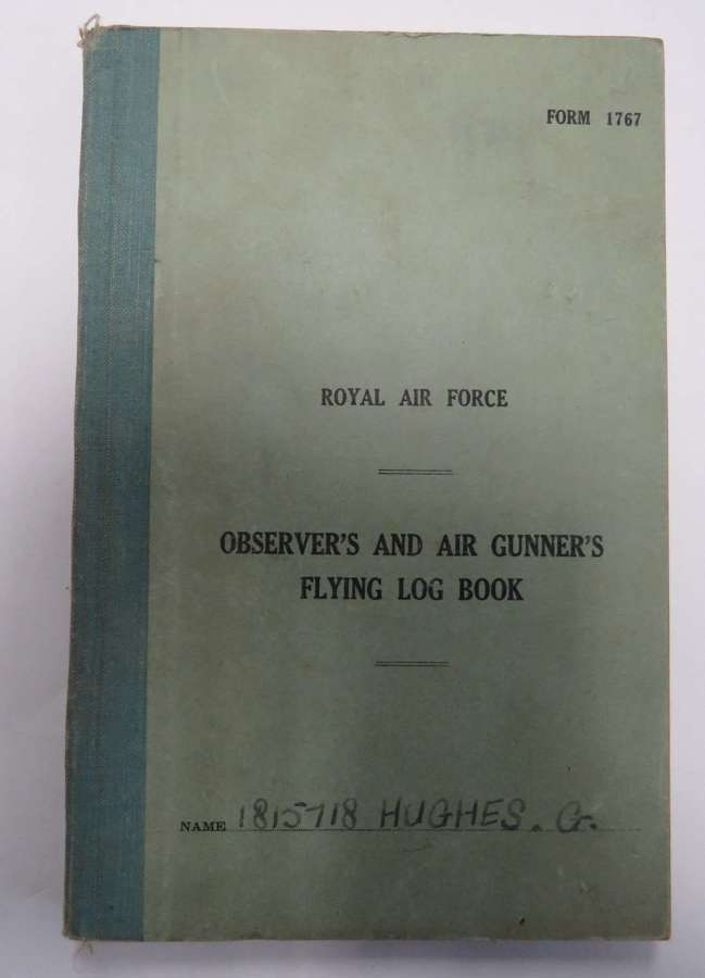 WW2 R.A.F Aircrew Logbook and Complete set of Airman's Paperwork