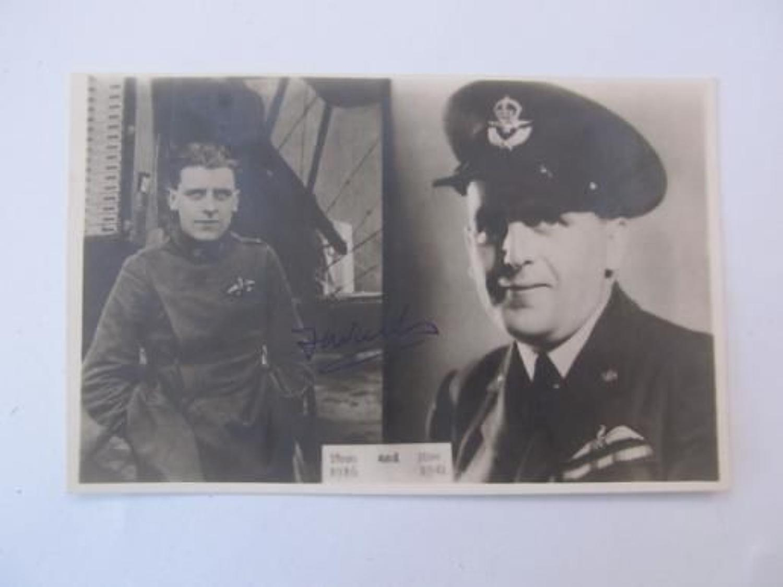 Signed WW2 RFC/RAF Postcard of S/L F Walker