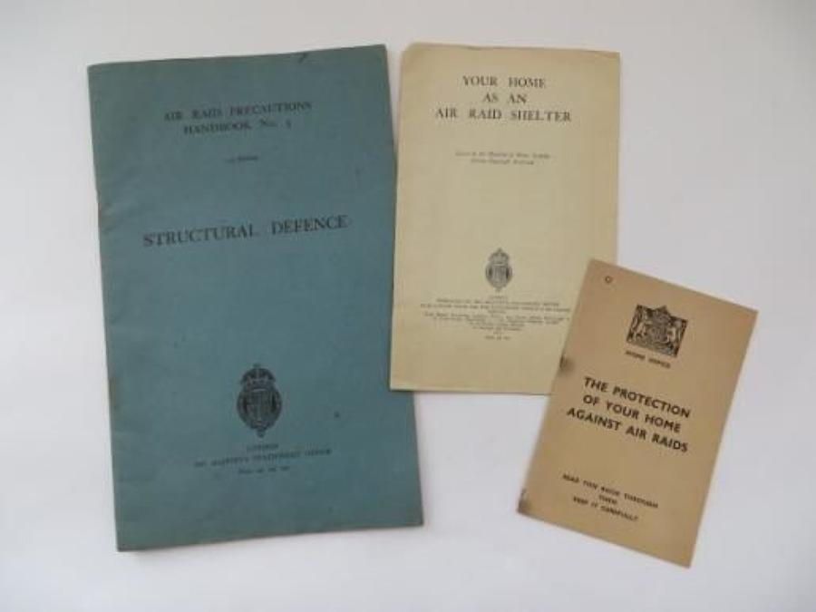 Three WW2 Home Defence ARP Booklets
