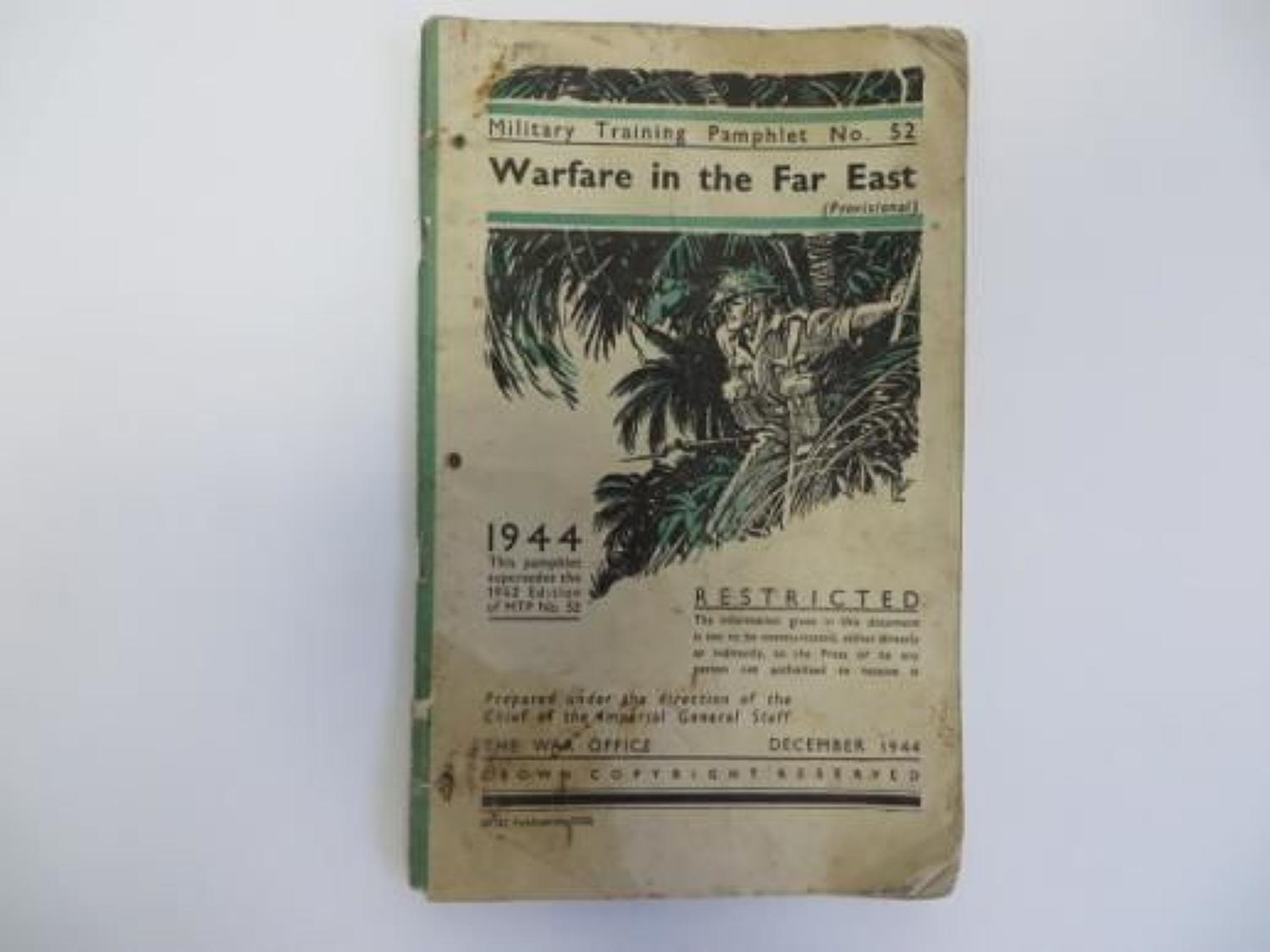 Rare 1944 Warfare in the Far East No52 Pamphlet