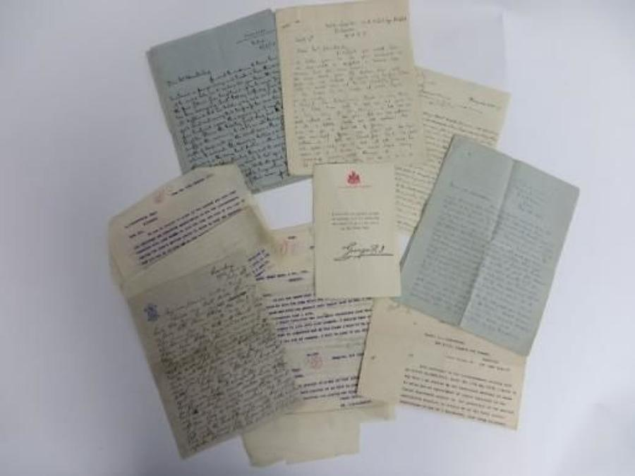 WW 1 Officer Casualty Letter Set