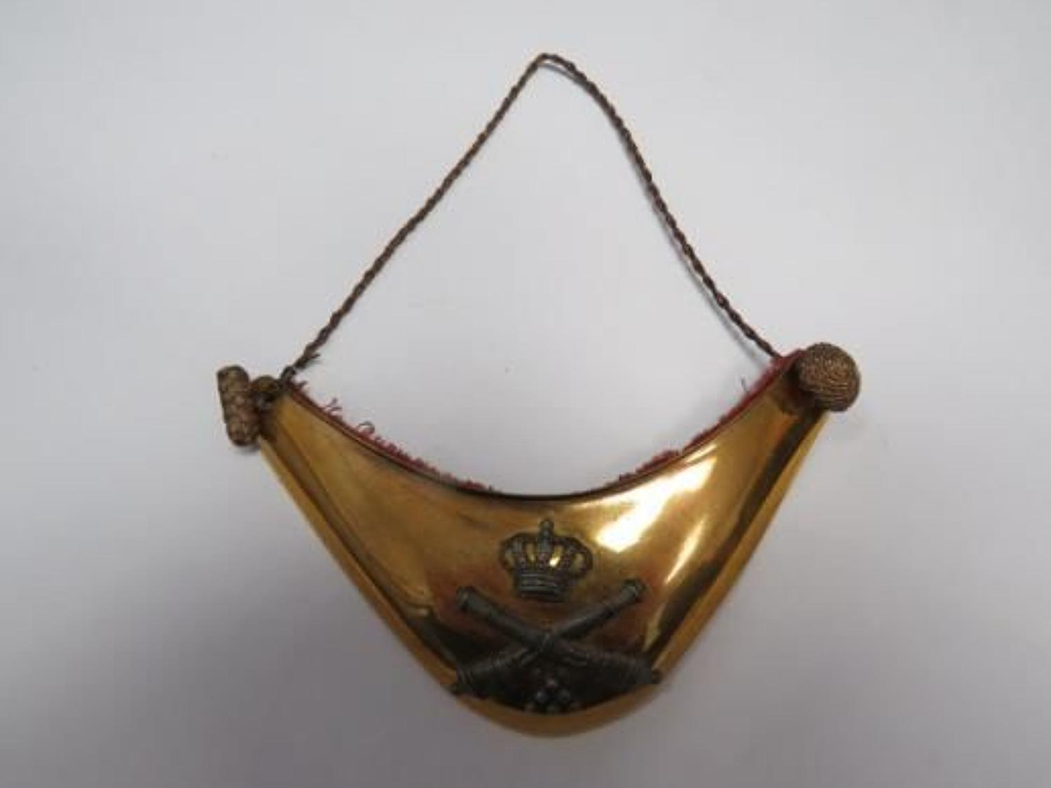 Continental Artillery Officers Gorget