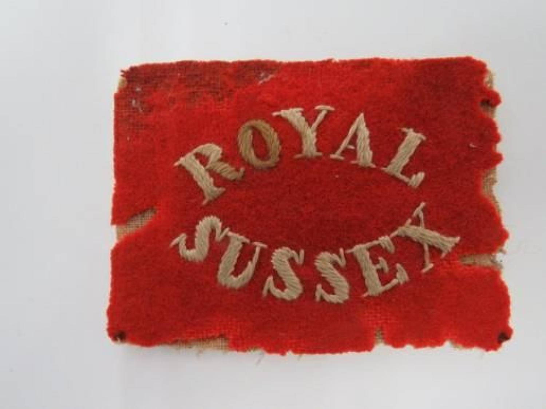 Royal Sussex Pagri Badge
