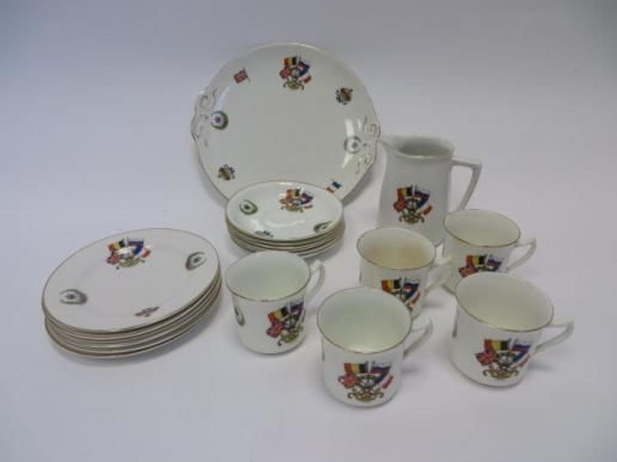 WW1 Commerative china tea service and side plates
