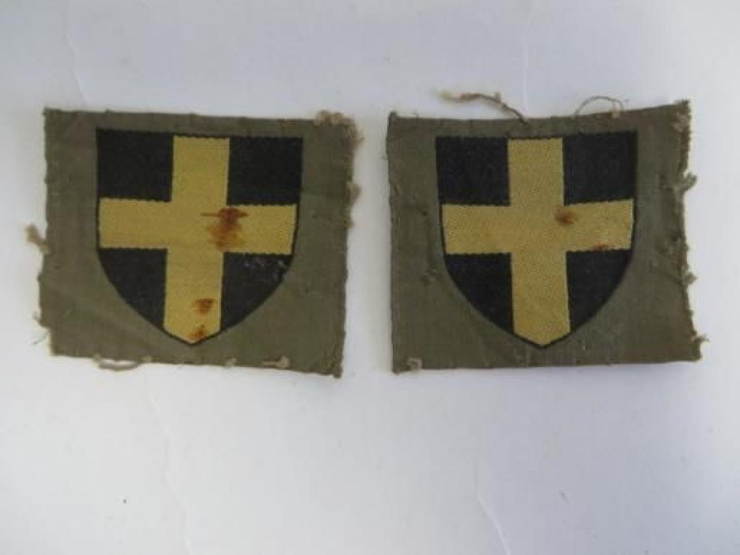 Pair of 38th Infantry Division Formation Badges