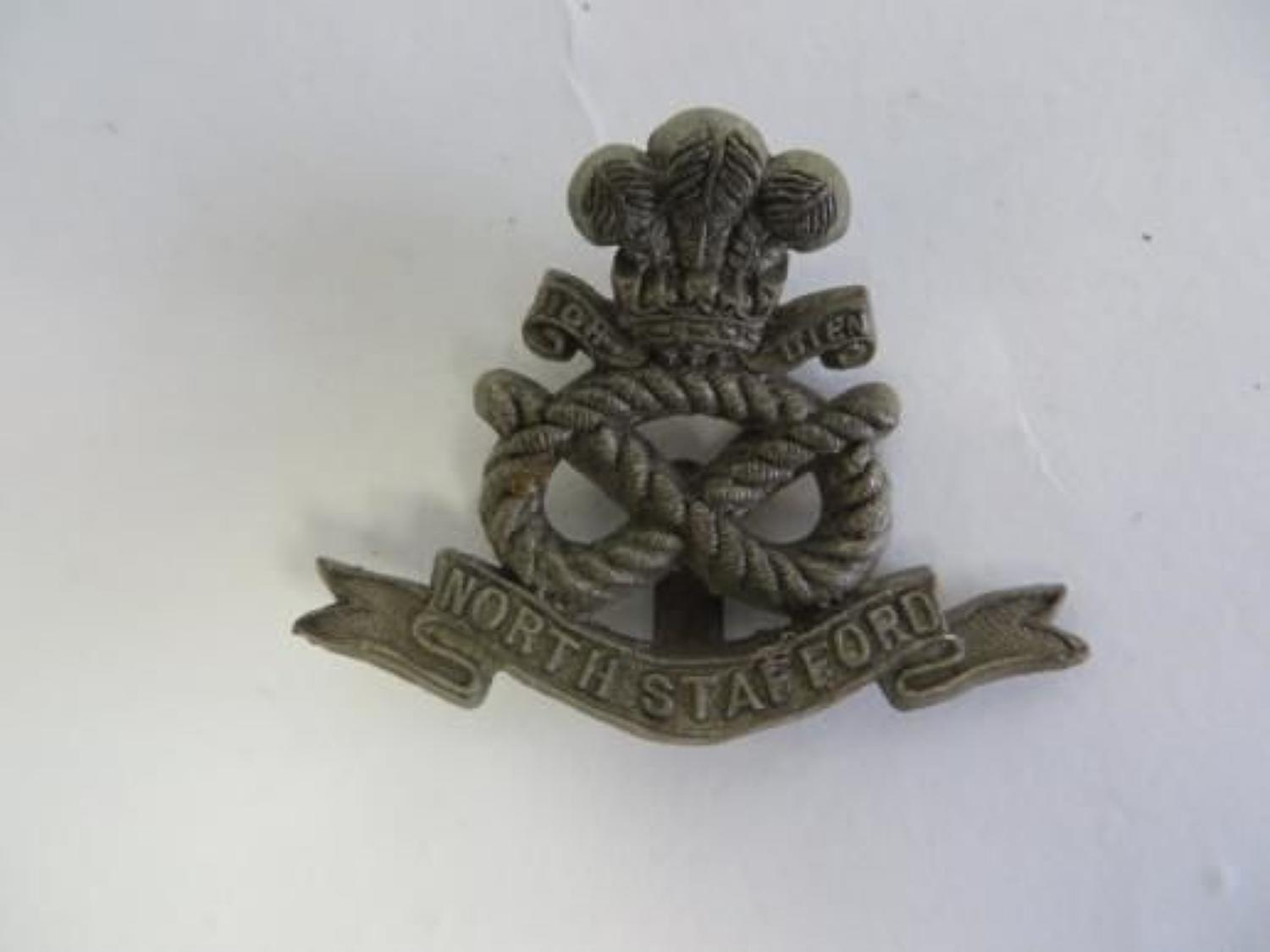 WW 2 North Stafford Plastic Economy Badge
