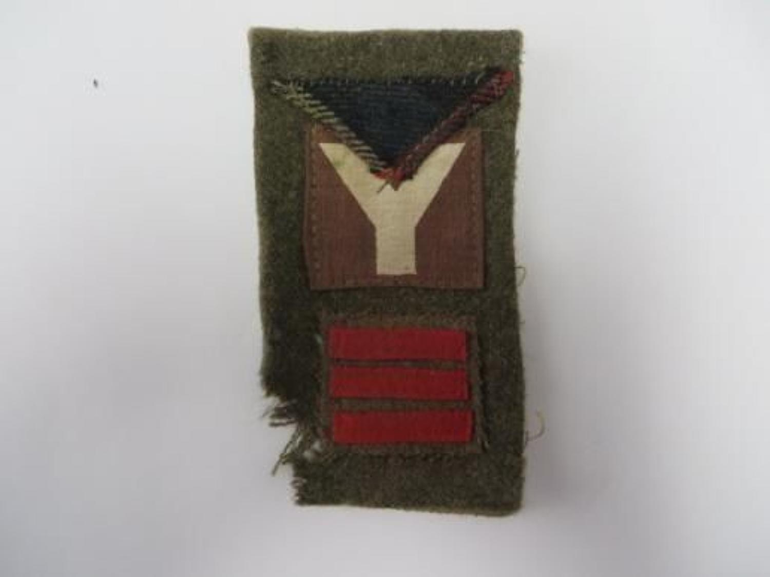 6th Seaforth Highlanders 5th Infantry Division Battle Patch