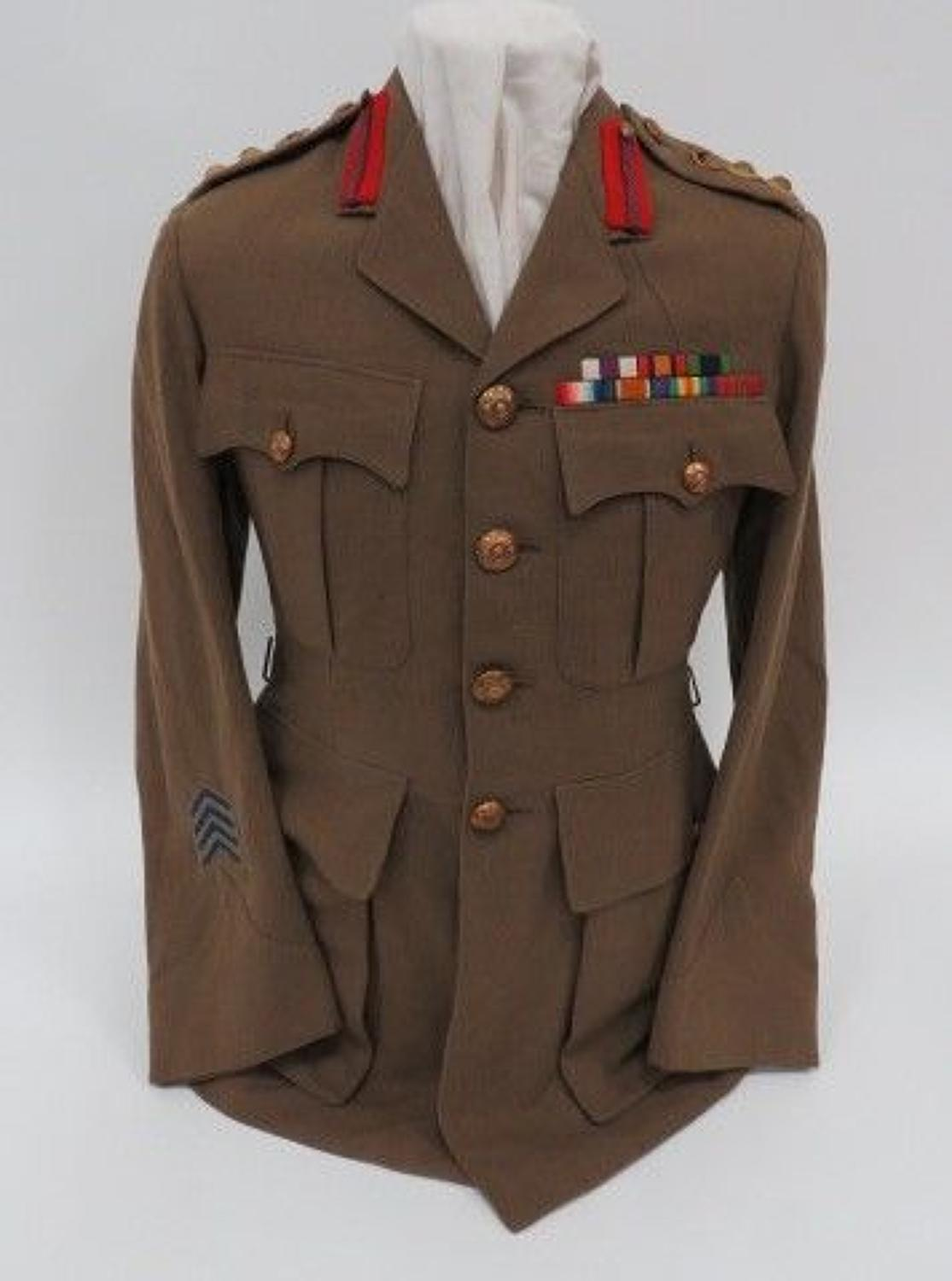 WW 1 Period Staff Officers East Yorkshire Service Dress Tunic