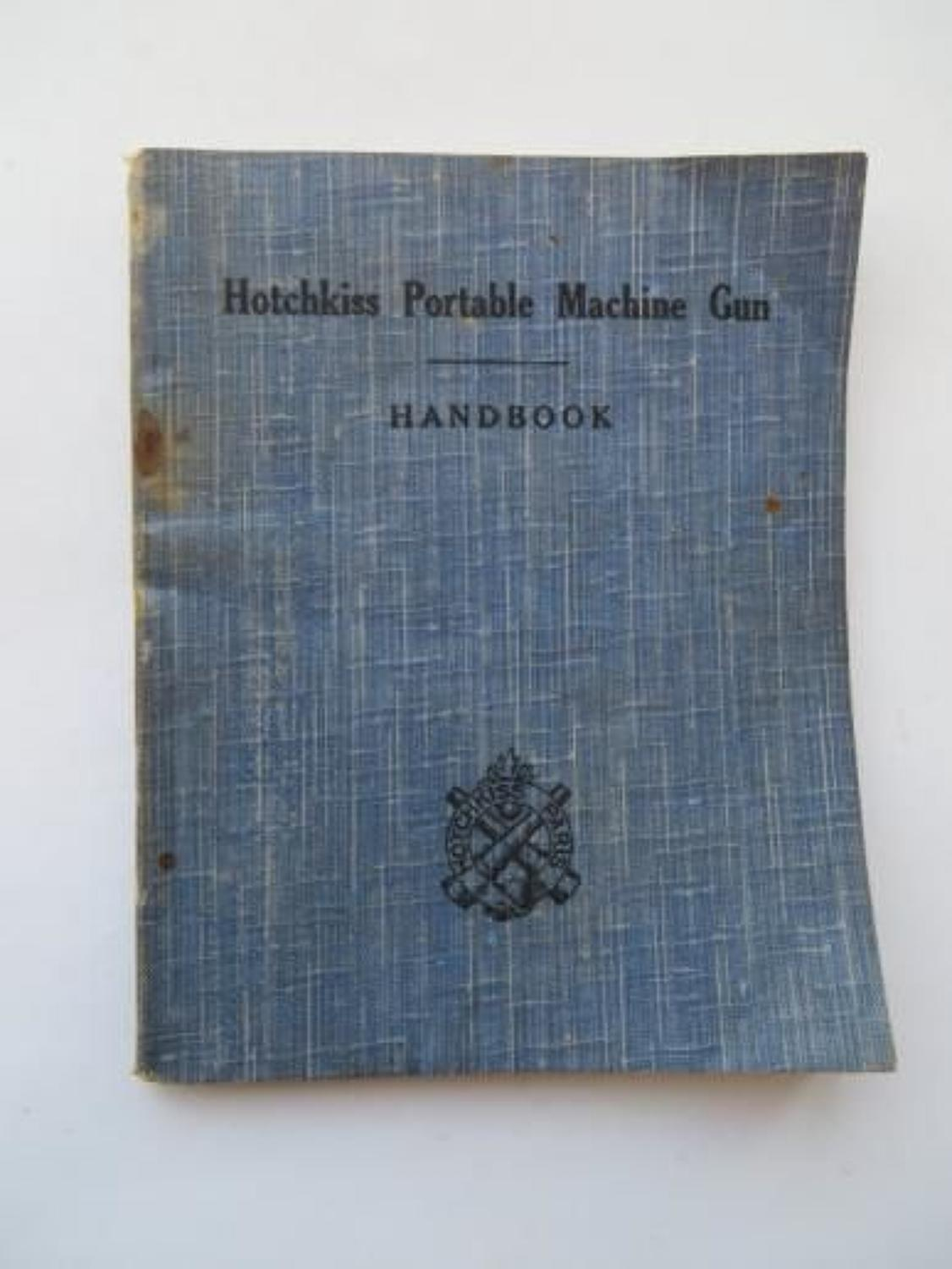 WW1 Period Hotchkiss Portable Machine Gun Booklet