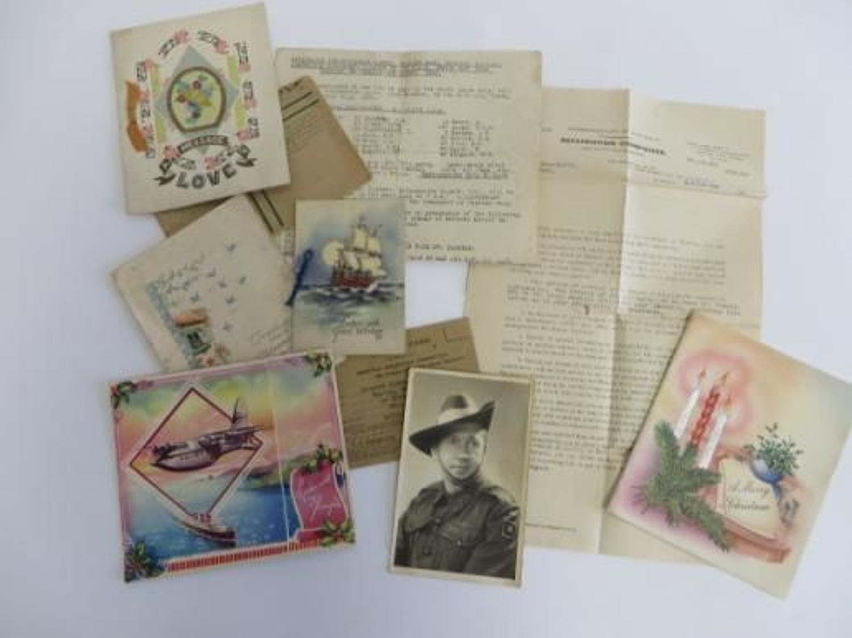 WW 2 Australian Photo and Paperwork