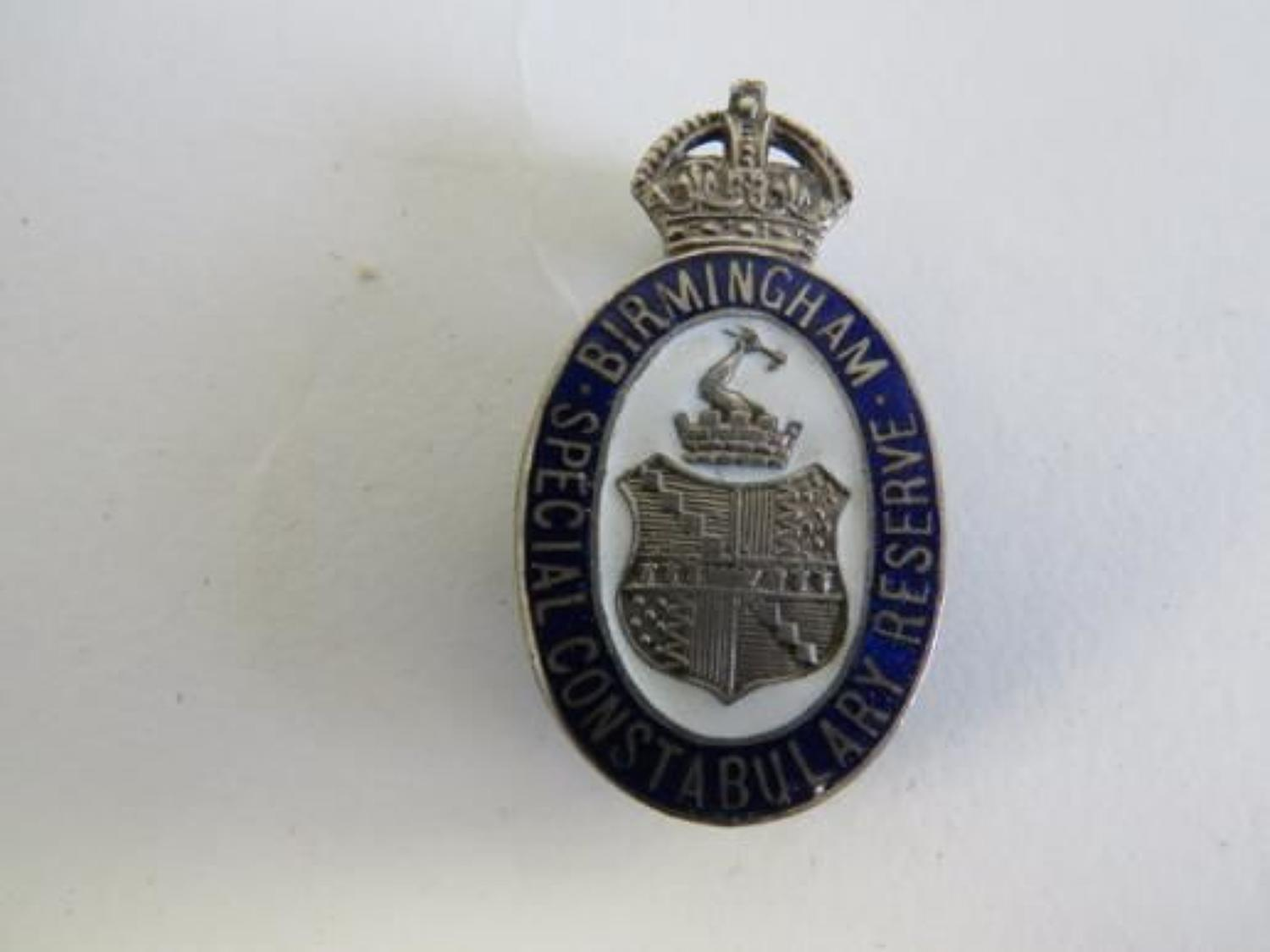 Birmingham Special Constabulary Reserve Lapel Badge