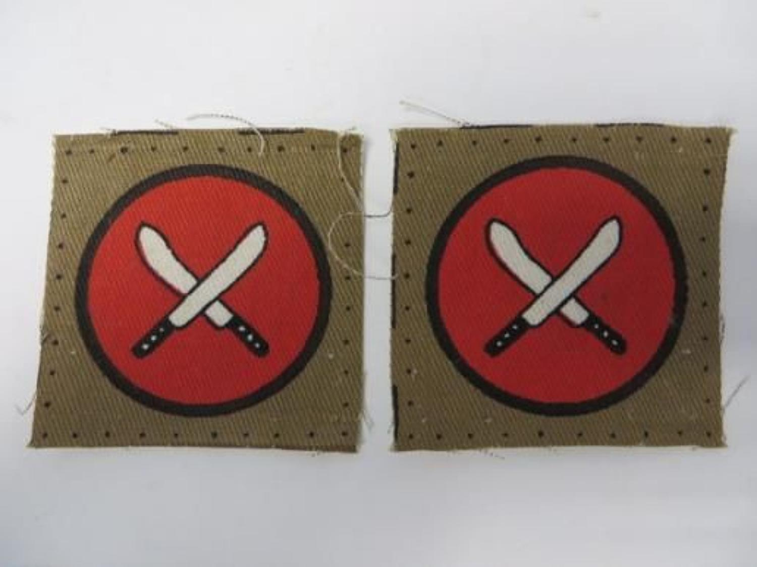 Pair of East Africa Command Formation Badges