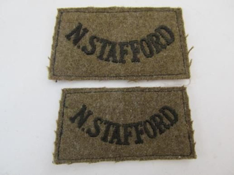 Pair North Stafford Slip On Titles